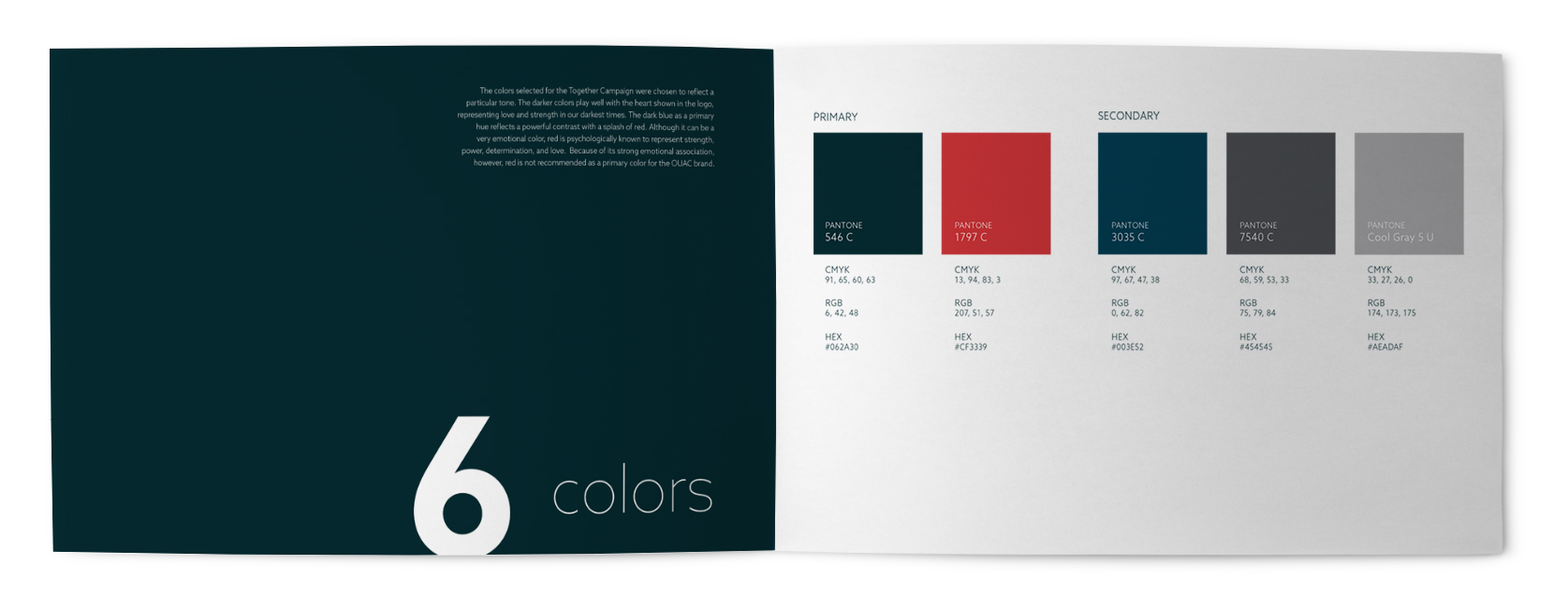 Branding Color Pallet for Together Campaign, Orlando United Assistance Center