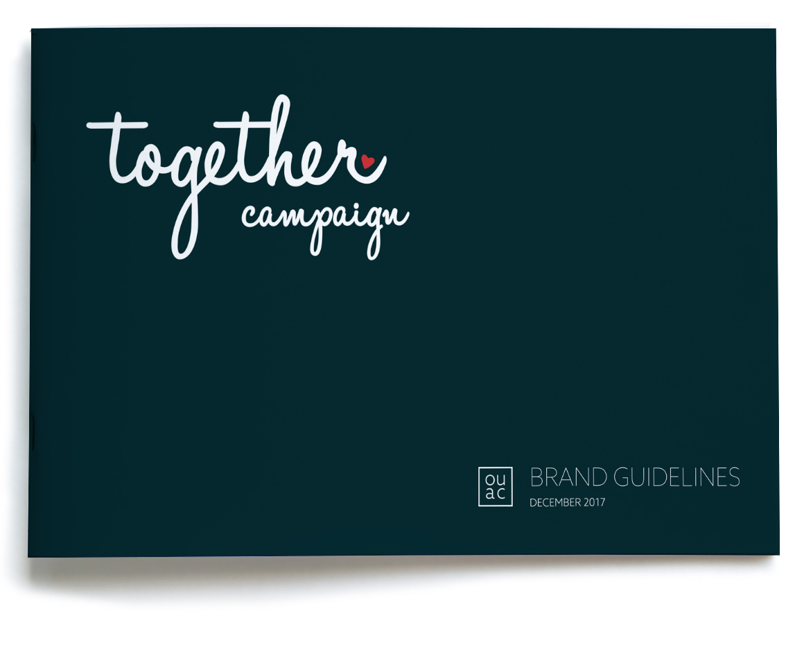 Campaign brand guidelines for together campaign Orlando United Assistance Center