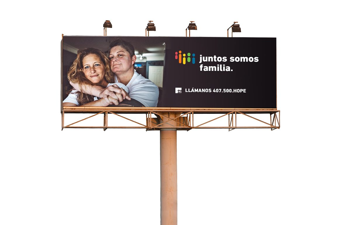 Custom Advocacy Campaign Billboard for Orlando United Assistance Center