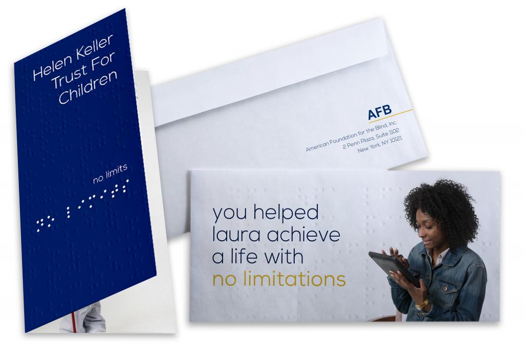 American Foundation for the Blind Brochure Mailer Design