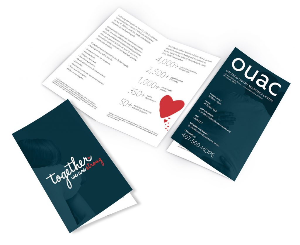 OUAC design brochure design creative