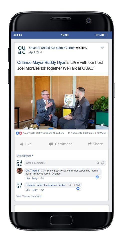OUAC social media Facebook live videos
